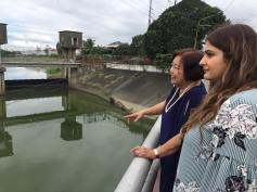 Visit of Brandon West MP Kamal Khera to Manggahan Floodway. Pasig City with Dr. Emma Porio